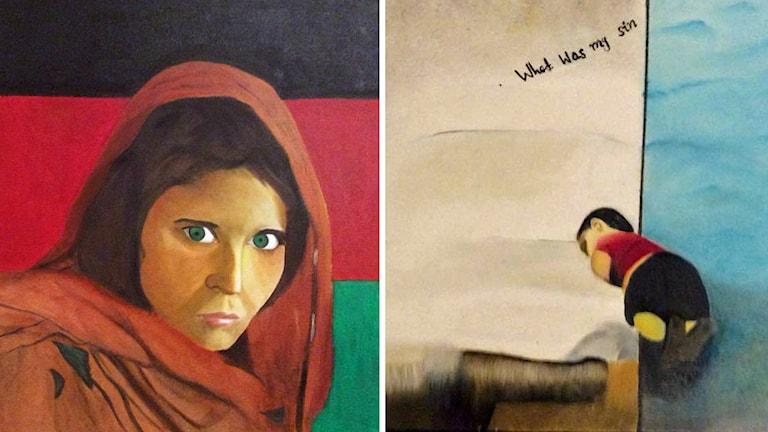 Farid flydde från Afghanistan till Sverige. Hans flykt blir konst. Foto: Privat