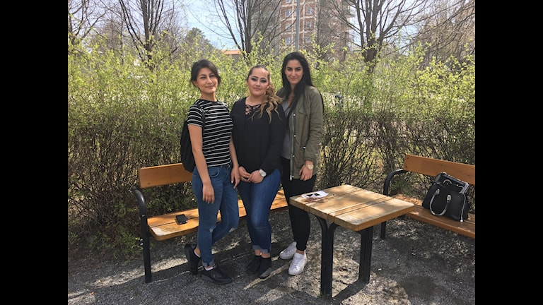 Annahita Hosseini, Hala Hamadeh och Kübra Göncü.
