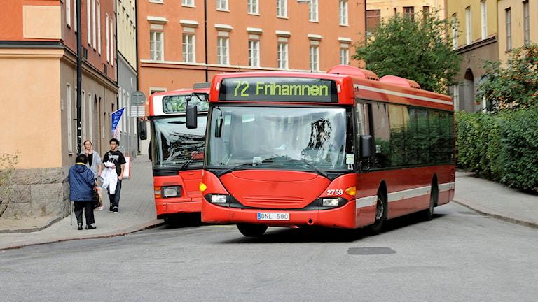 Röda SL bussar