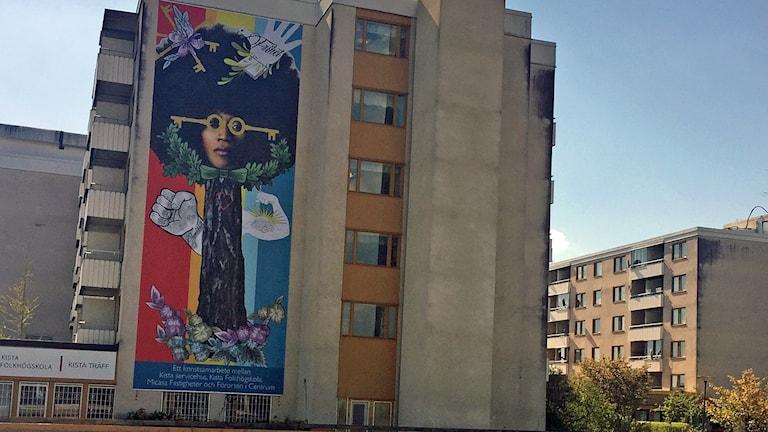Muralmålning i Kista