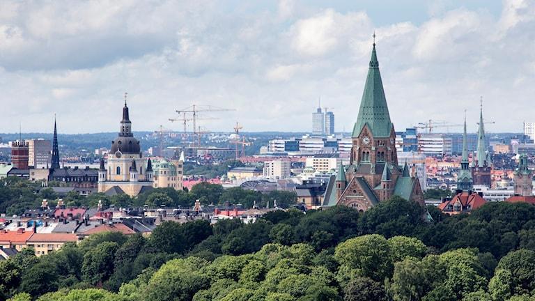 Utsikt från Hammarbybacken.