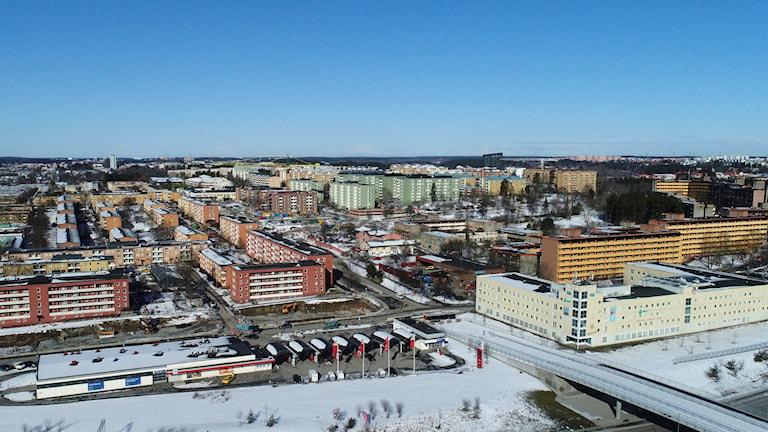 Arkivbild på Rinkeby i nordvästra Stockholm.