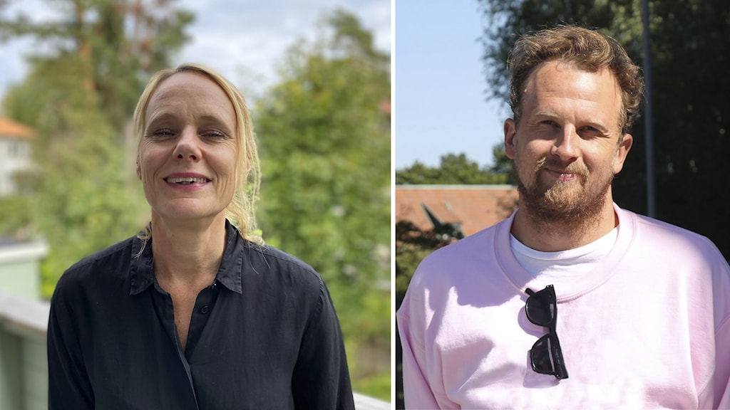 Monica Fredriksson, vd på Folkoperan och Jakob Grandin på Trädgården.