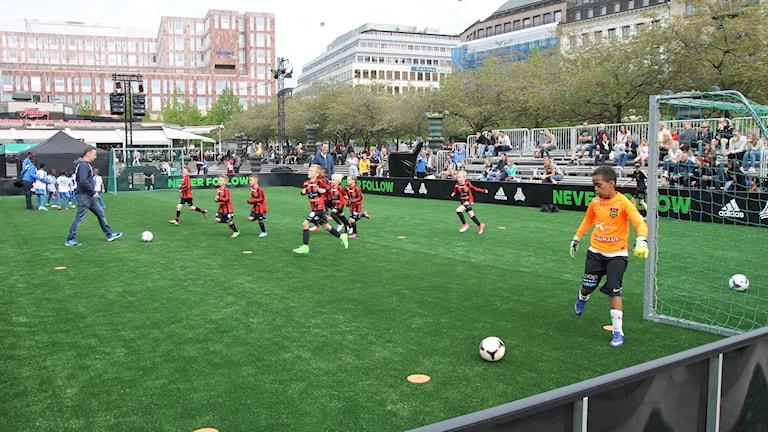 Fotbollsplanen i Kungsträdgården