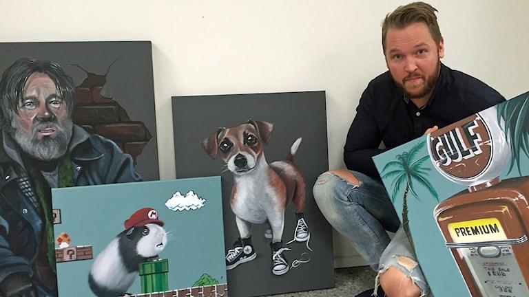 Emil Grönholm, konstnär