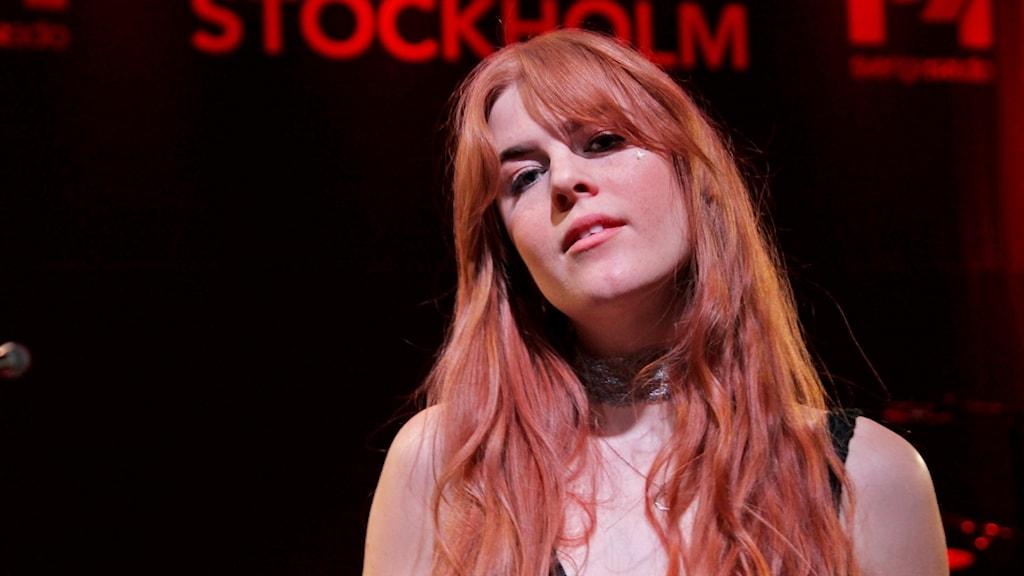 Artisten Dotter, Johanna Jansson, gästade Musikplats Stockholm.