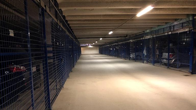 Garage i hyreshus på Malmvägen.