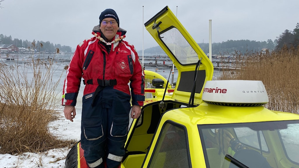 Helge Skälén som ansvarar för svävarverksamheten.