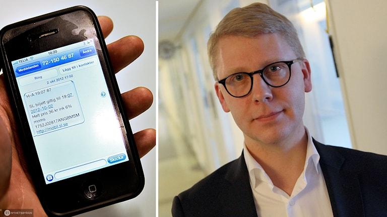 Sms-biljett och Kristoffer Tamsons