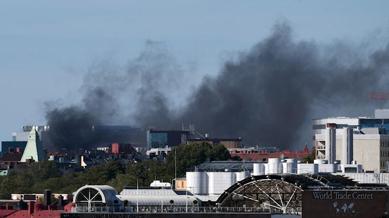 Brand på Karolinska i Solna