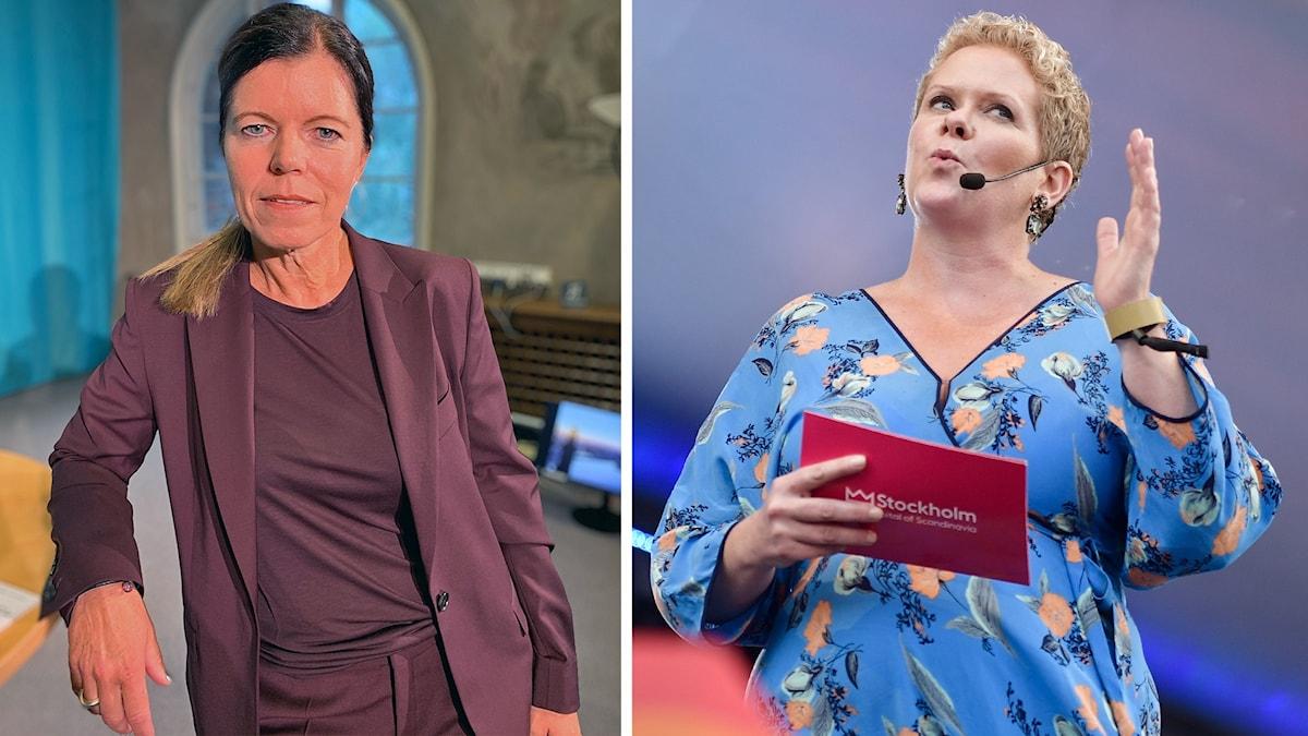 Isabel Smedberg-Palmqvist (L) och Karin Wanngård (S).