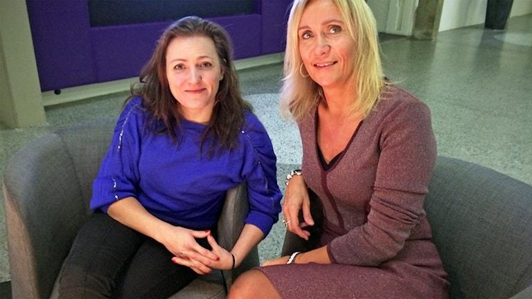 Producent Annika Rogell och Anette Mattsson, vd för Filmregion Stockholm-Mälardalen.