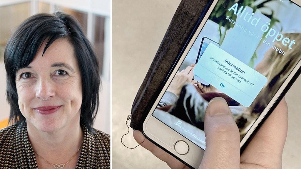 En kvinna och en app.