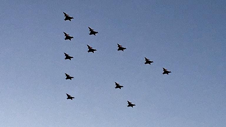 Flyguppvisning med Skaraborgs flygflottilj