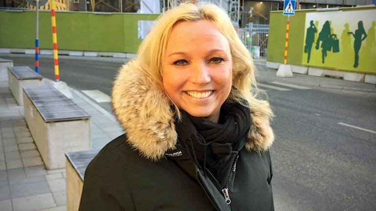 Henriette Johansson är chef för kvarteret som växer fram vid Brunkebergs torg.