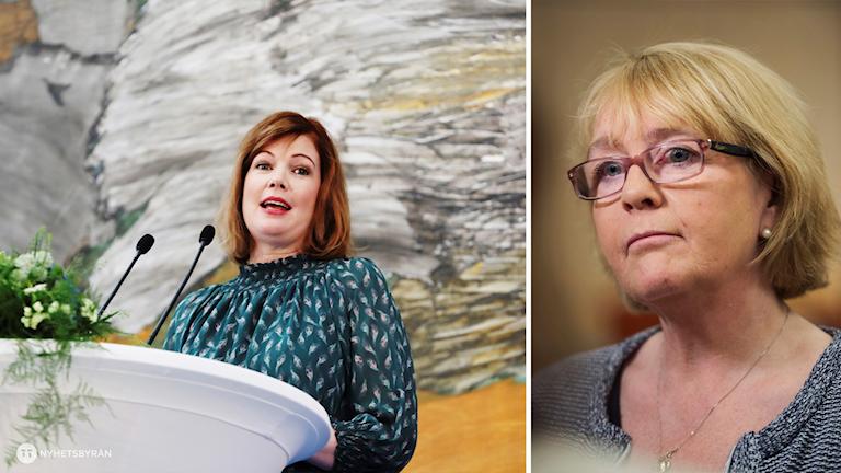 Anna Starbrink L och Irene Svenonius M