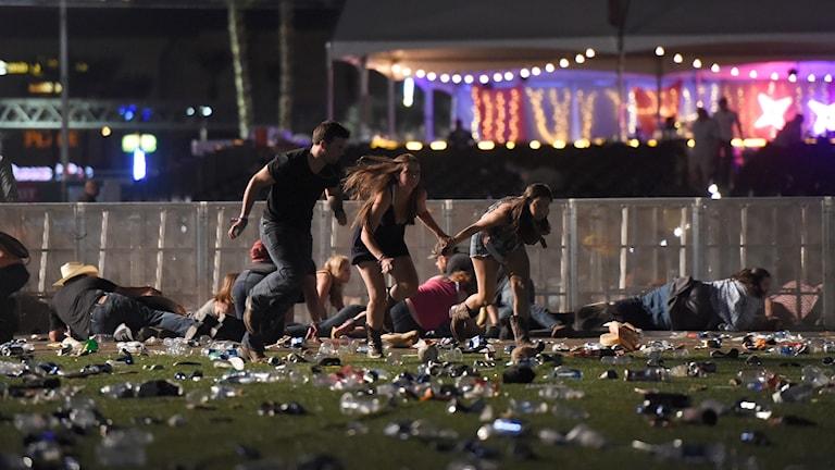 Skytt i Las Vegas.