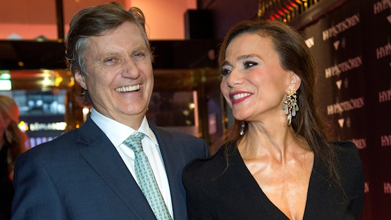 Lena Ohlin och maken Lasse Hallström
