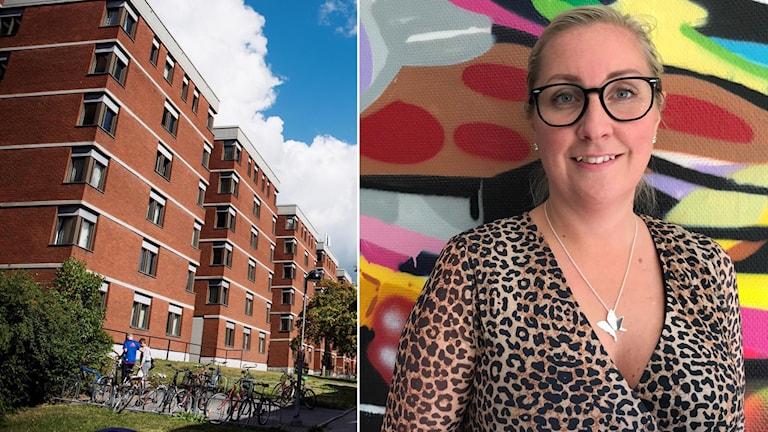 Marlene Lundqvist, kund- och marknadschef på Stockholms studentbostäder.