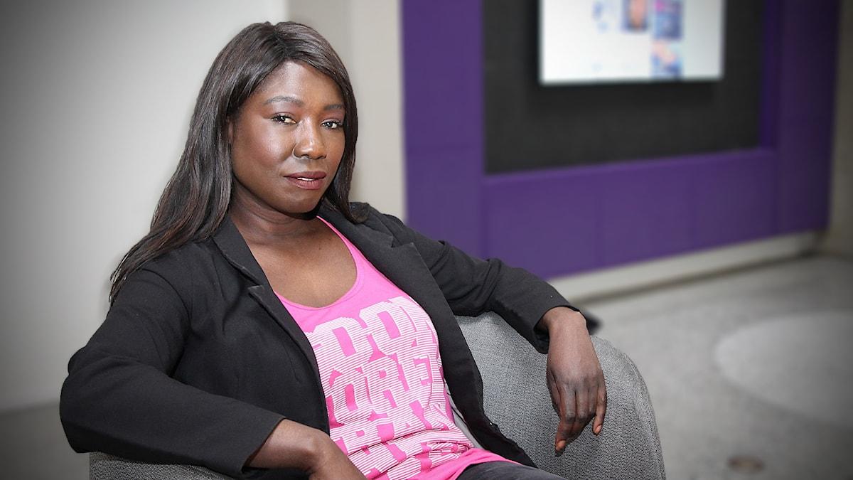 Victoria Kawesa (Fi) , Feministiskt initiativs partiledare.