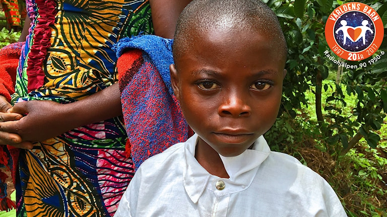 Pojke i Kongo från Lasse Perssons resa i Kongo