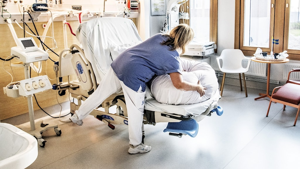 Barnmorska i sjukhussal.