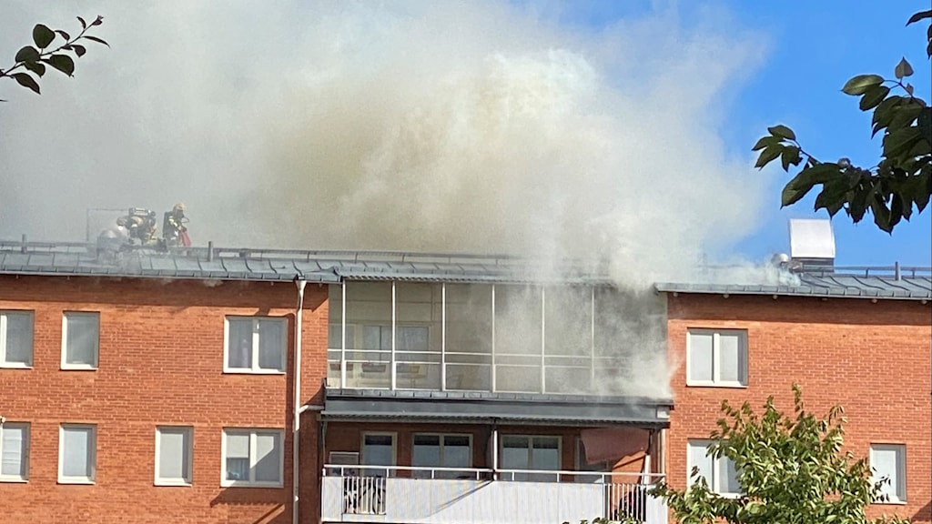 Brand i Rinkeby.