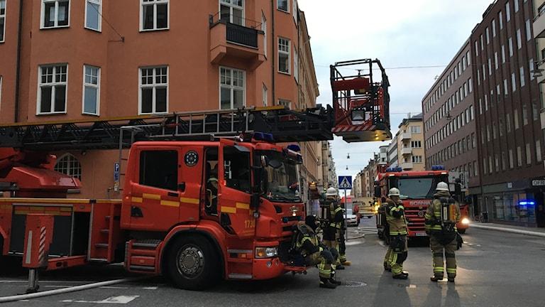 Brand på Östermalm