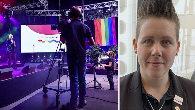 Från Stockholms digitala prideparadstudio och Vix Herjeryd.