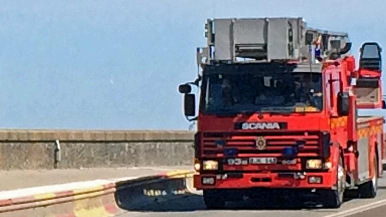 En av Storstockholm brandförsvars brandbilar.