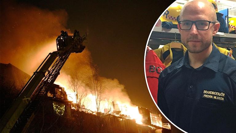 Branden i Husby och brandingenjör.