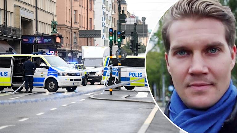 Polisen Ted Eriksson blev knivhuggen av mannen som nu döms till fängelse.