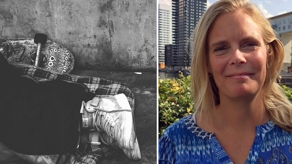 Hemlös och Karin Timm Östlund Sveriges Stadsmissioner