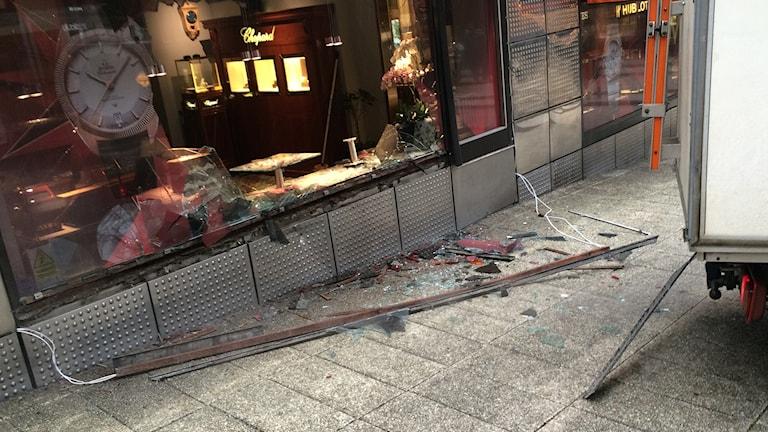 Klockbutiken ustsattes för väpnat rån. Foto: Sveriges Radio/Rouzbeh Djalaie