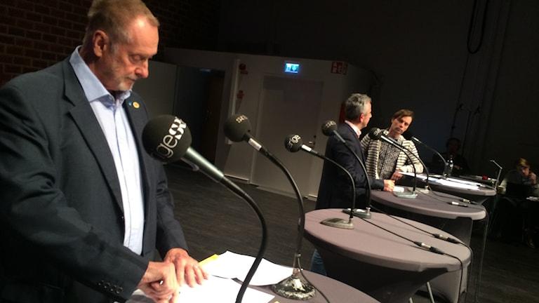 Politikerna i panelen.