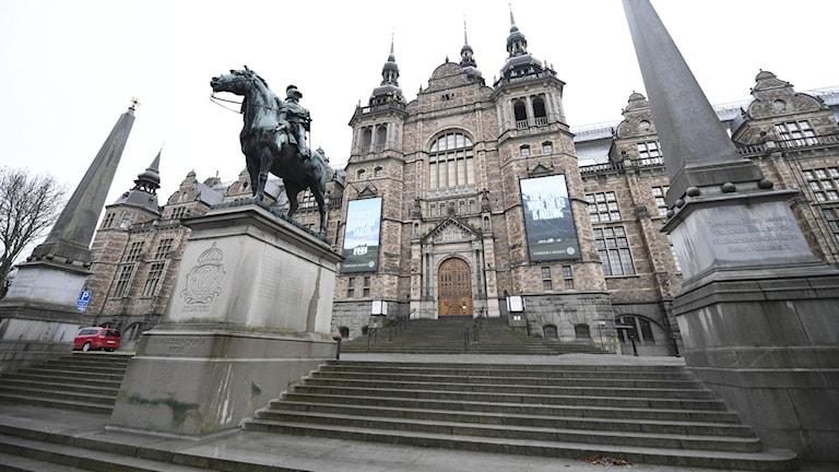 Bild på byggnaden där Nordiska museet huserar.