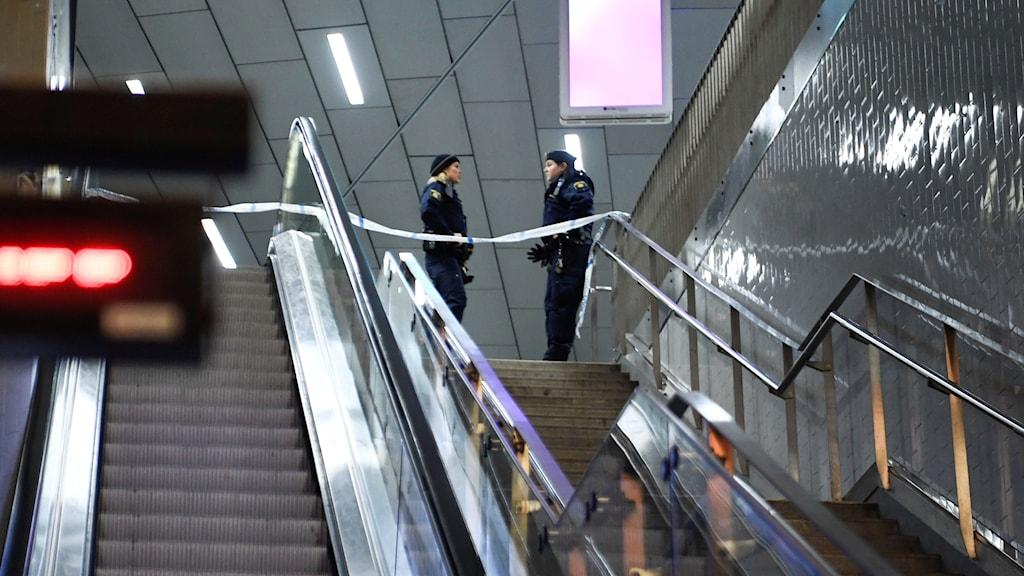 Avspärrad rulltrappa