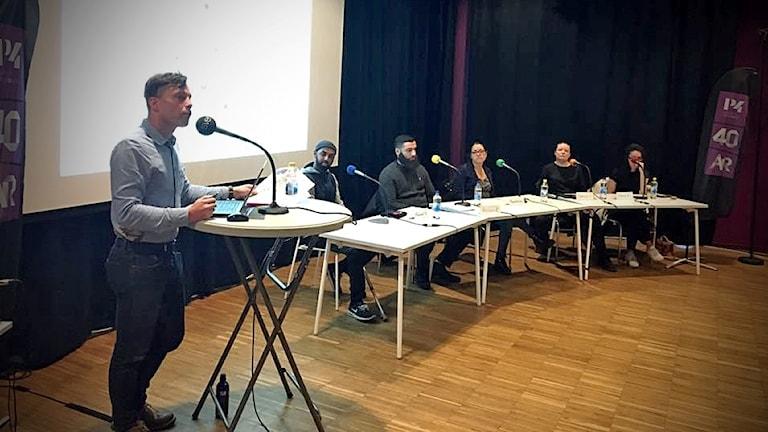 P4 Stockholm håller debatt i Kista.
