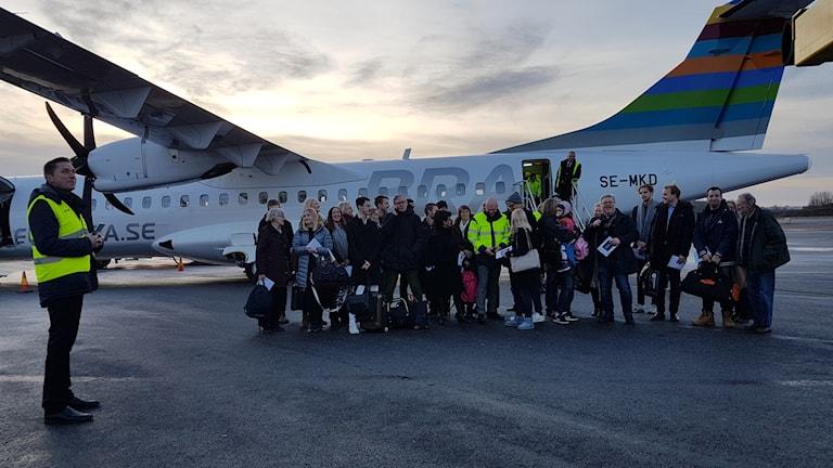 Bromma Flygplats satte nytt passagerarrekord. Den 2,5 miljonte passageraren kom med planet från Visby.