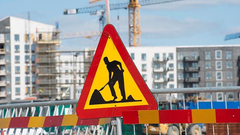 Bild från byggarbetsplats