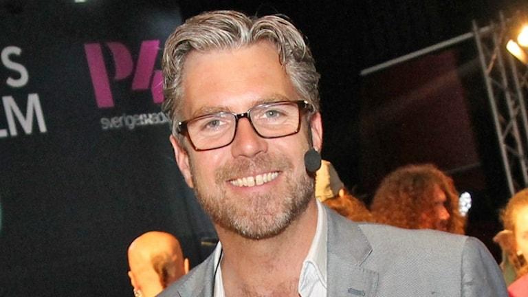 Fredrik Eliasson, programledare och producent för Musikplats Stockholm
