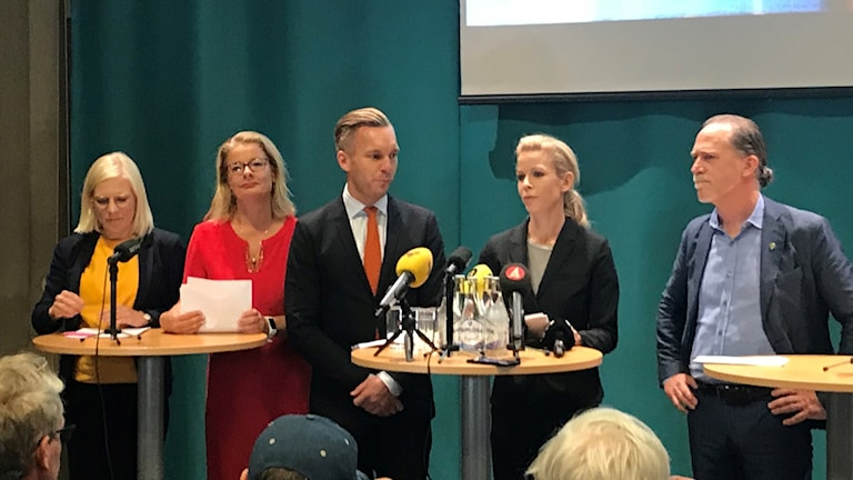 Nya blågröna alliansen i Stockholm.