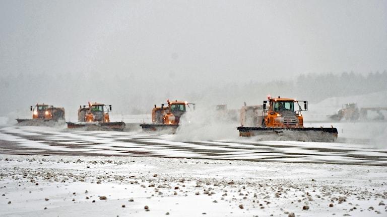 Snöröjning på Arlanda