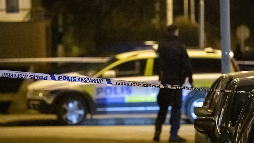 Polis och polisbild i mörker
