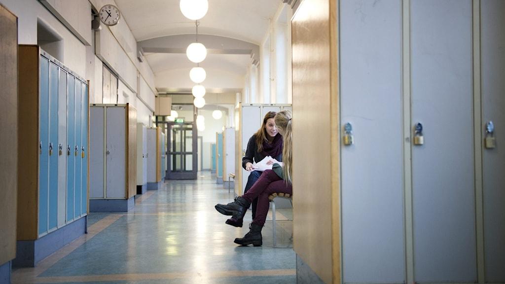 Bild på skolkorridor