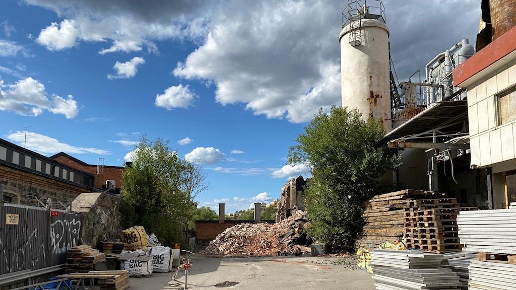 Kolsyrefabriken i Liljeholmen.