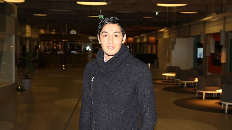 Musse Hosseini, ordförande för Sveriges ensamkommandes förening Stockholm.