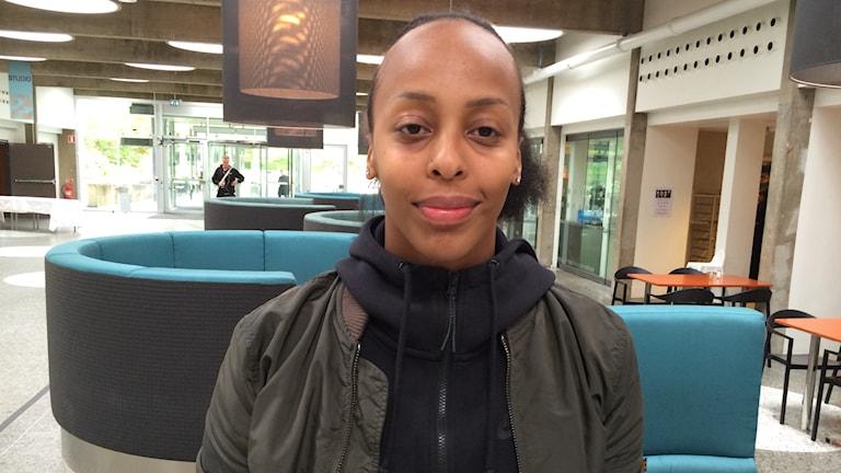 Basketstjärnan Farhiya Abdi