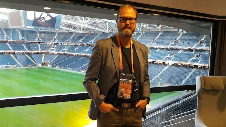 Stefan Wittberg säkerhetsansvarig på Friends Arena i Solna