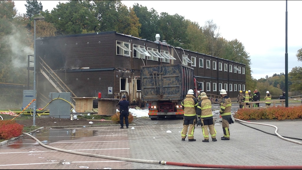 Brand på asylboende i Fagersjö